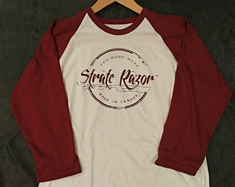 Canadian Made T-shirts- Maroon sleeves