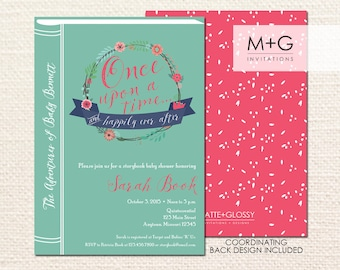 Once Upon A Time Storybook Invitation: Digital Printable Invite