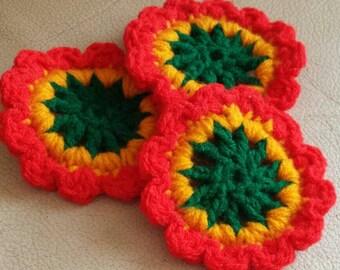 Crochet, handmade, coasters, handmade coasters, crochet coaster, handmade coaster, drink coasters, coasters crochet, crochet doily