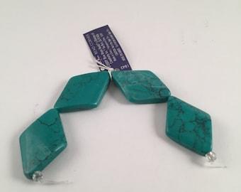 Beads, Diamond Shaped Beads, Flat Beads, Magnesite Beads, Green Magnesite Beads, Green Flat Diamond Shaped Beads, Diamond Shaped Beads