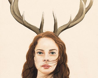 Antlers - LIMITED EDITION PRINT - Giclee Print A4