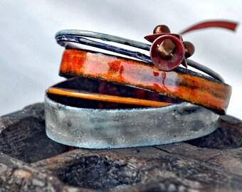 Bespoke - Enameled Bracelet Set