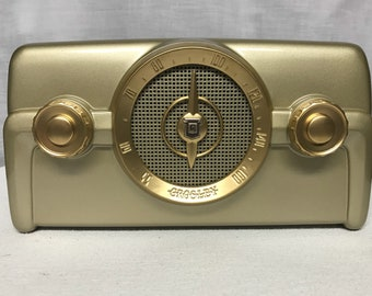 1950 Crosley 10-138 Vintage Retro Dashboard Tube Radio With Bluetooth Input