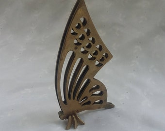Brass Butterfly Paper Weight Vintage Butterfly Figurine