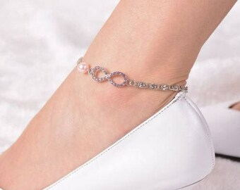 Anklet, adjustable chain