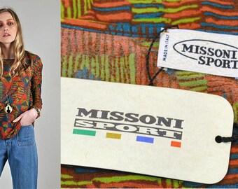 Vintage 1970's Missoni Sport Long Sleeve Tee Shirt Italy s1