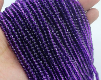 150 Pieces,New 4mm Romantic Purple Rondelle Faceted Crystal Beads,Purple Crystal Beads,1Strand,Gemstone Beads,Supplies-BR80