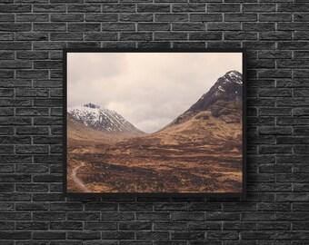 Mountain Landscape Photo - Brown Wall Decor - Mountain Photography - Brown - Nature Photography - Mountain Wall Art - Nature Wall Decor