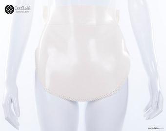 Latex maid's apron w/ bow