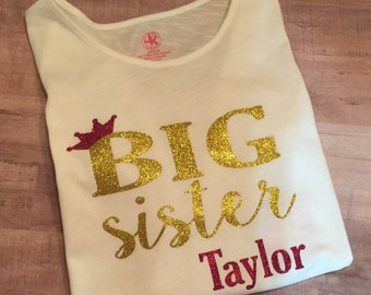 Big Sister Tee- New Sibling