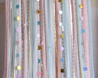 pink blue lace fabric sparkle sequin photography,baby shower backdrop Wedding ceremony stage,birthday,backdrop party Garland,curtain