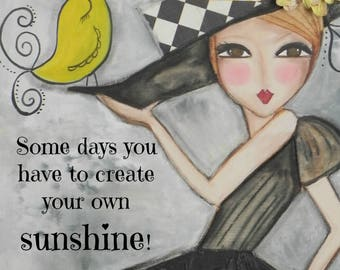 Create Your own Sunshine 5x7 Art Card