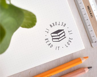 Read It, Love It, Return It Stamp - Teacher Stamp - Library Stamp - Book Stamp - Teacher Gift  - End of Term - Teaching Assistant