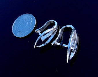 EXCLUSIVE and Large Sterling Silver Pinch Bail for Pendant Findings  Bails & Enhancers