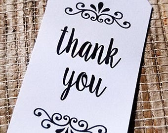 Thank you Favor Tags Wedding Favor Tags Small Thank You Tags Gift Tags Choose Quantity