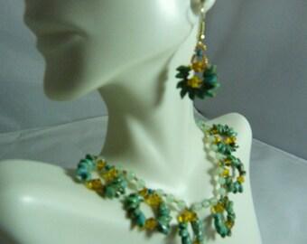 Golden hour magatama princess necklace