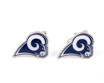 Los Angeles Rams Cuff Links -- FREE SHIPPING with USPS First Class Domestic Mail