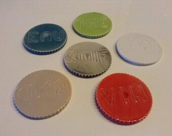 set of ceramic coasters