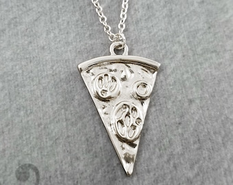 Pizza Necklace Slice of Pepperoni Pizza Jewelry Pizza Slice Pizza Charm Necklace Pizza Pendant Necklace Pizza Gift Food Jewelry Bridesmaid