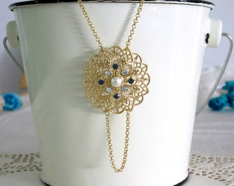Blue bridal jewelry, Blue bridal necklace, Blue bridal pendant, Blue wedding jewlery, Blue wedding necklace, Something blue wedding