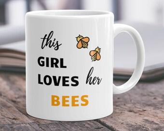Bee Mug Beekeeper Gift Bee Gift Bee Mom Bee Keeper Gift for Bee Lover Gift for Beekeeper Mom Beekeeper Girl I Love Bees Beekeeper Present
