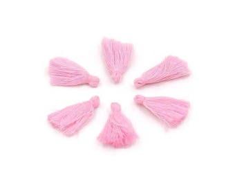 Pale pink cotton tassel