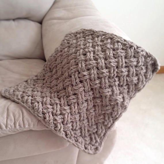 Crochet Pattern For Diagonal Weave Blanket Any Size