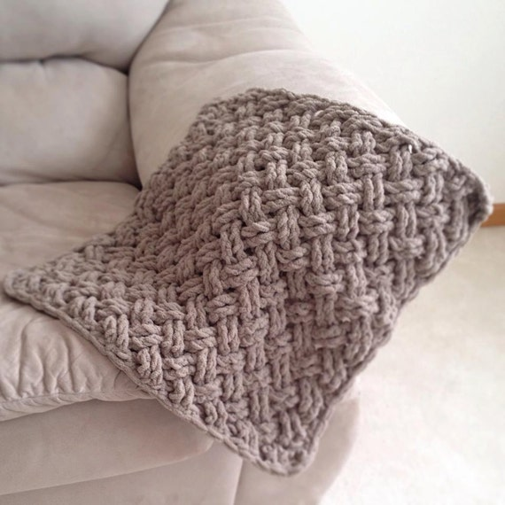 Crochet Pattern for Diagonal Weave Blanket Any Size