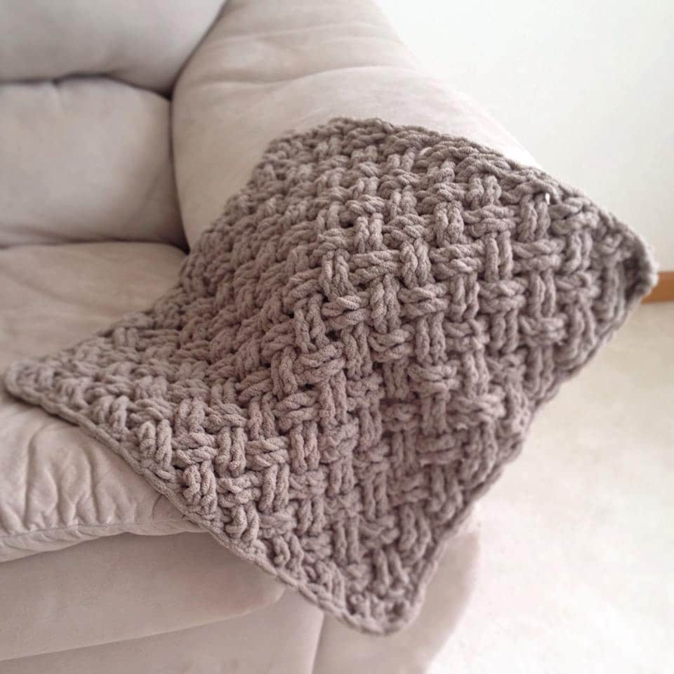 Crochet Pattern for Diagonal Weave Blanket - Any Size - Welcome to ...