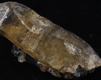 Citrine with Black Tourmaline.