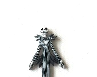 Jack Skellington Pin, Nightmare Before Christmas, Brooch, Lapel Pin, Tie Tack, Disney Gift