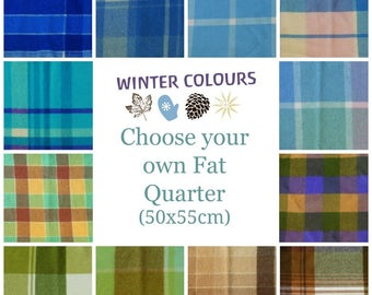 FAT QUARTER Wool felt blanket pieces 50x55cm - Vintage felted wool fabric - Vintage wool felt blanket for craft - WINTER colours Australia