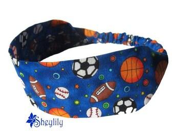 Sports Headband - Soccer Headband - Basket Ball Headband - Baseball Headband - Activity Headband - Athletics - Girls - Boys - by Sheylily