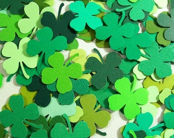 100 Die Cut St Patrick's Day - Lucky Charms, Four Leaf Clovers