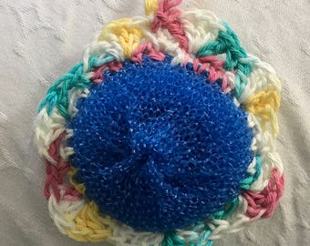 Crochet Flower Dish Scrubbies