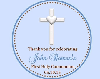 First Communion Favor Tags ( Set of 12 ) - Communion Favors - 1st Communion Favor Tag - First Communion Favors - Boys First Communion Favor