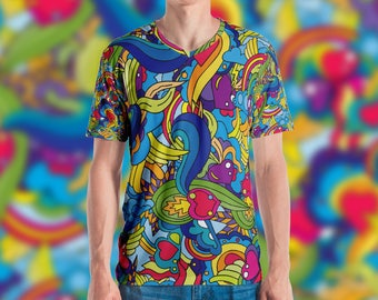 Psychedelic Valentine All-Over-Print T-shirt