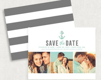 Anchor Save the Dates, Magnet Save the Dates, Nautical Save the Dates, Printable Save the Dates, Printed Save the Dates, Save the Date Cards