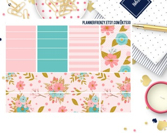 "23 Spring Blooms Collection ""Washi"" and Bottom ""Washi"" Planner Stickers! KT530"