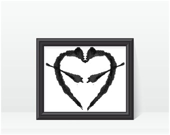 Rorschach Ink Blot Art print no 7