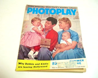 Vintage Photoplay Magazine September 1958 Debbie Reynolds Eddie Fisher And Baby Carrie Fisher