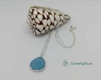 Chalcedony Necklace Silver