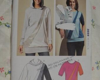 Kwik Sew 3669 Misses Tops and Tunic Sewing Pattern - UNCUT - Size Xs S M L XL
