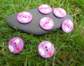 Fancy purple button