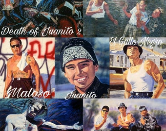 """Autograph prints(12""""x18"""") from Original Artist Adan Hernandez from feature film Blood In Blood Out!"""