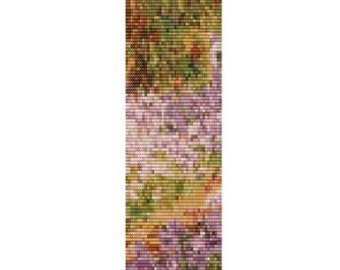 Slice of Iris In Monets Garden cuff Loom or Peyote