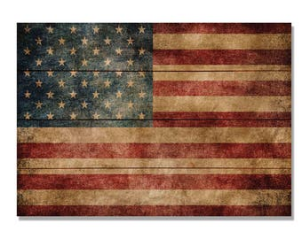 The Patriot, American Flag Print On Wood, Rustic Flag Home Decor, Wall  Hanging (WTP)