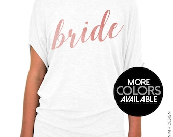 Bride Shirt - Rose and Pearl Collection, Slouchy Tee, Wedding Day Shirt, Wedding Shirt, Bride Top, Getting Ready Shirt, Bride to Be shirt