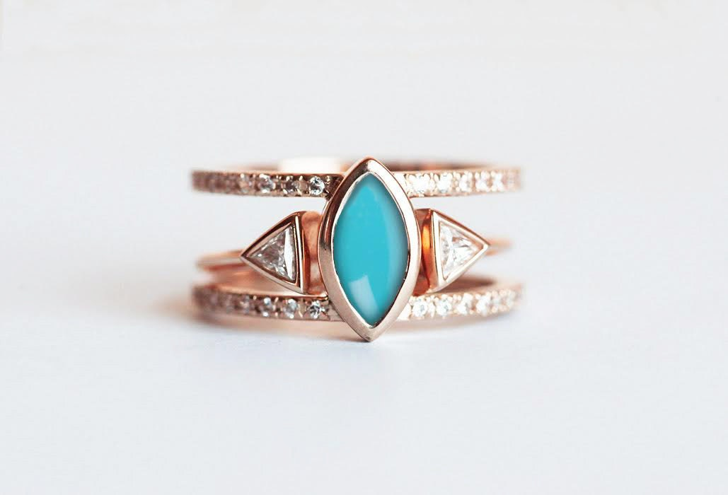 stone ring turquoise silver antique tibetan rings
