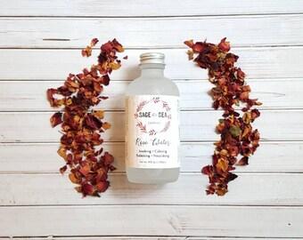 Natural Rose Water Toner - Natural Face Toner - Rose Water Tonic - Natural Face Tonic - Rose Hydrosol - Rose Water Mask Activator
